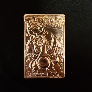 RARE vintage 1999 gold plated Pokemon card